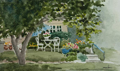 Charming Cottage Painting - Lura's House by Heidi E Nelson