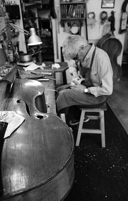 Double Bass Photograph - Luthier 3b by Andrew Fare