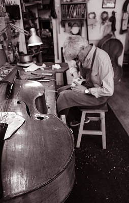 Double Bass Photograph - Luthier 3c by Andrew Fare