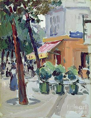 Abstract Expressionist Painting - Luxembourg Gardens by Samuel John Peploe