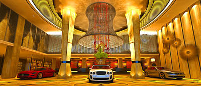 Continental Art Mixed Media - Luxury Cars Gallery by Edier C