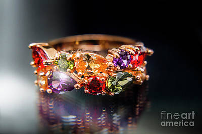 Platinum Photograph - Luxury Gemstone Fine Jewelry Rings by Jorgo Photography - Wall Art Gallery
