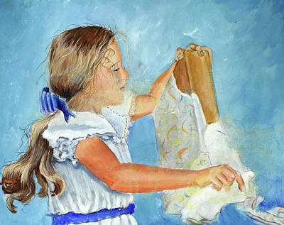 Birthday Present Painting - Lydia's 9th Birthday by Carolyn Coffey Wallace