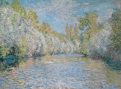 L'yerres Pres De Montgeron Print by Claude Monet
