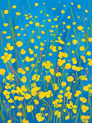 Lympstone Buttercups Print by Sarah Gillard