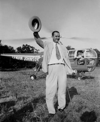 Lyndon Johnson Campaigning Print by Everett