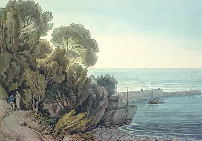 Harbors Drawing - Lynmouth  Devon by John White Abbott