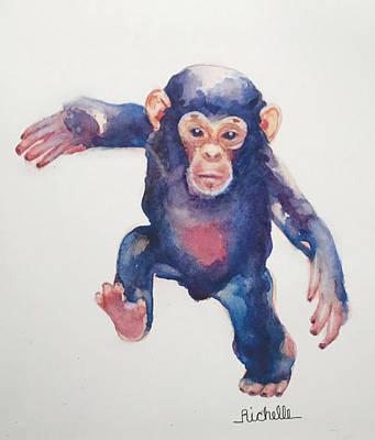 M Is For Monkey Original by Richelle Siska