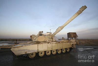 Armored Fighting Vehicles Photograph - M1 Abrams Tank At Camp Warhorse by Terry Moore