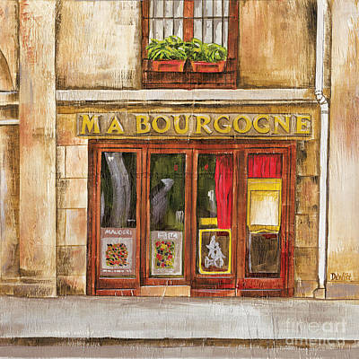 Storefront Painting - Ma Bourgogne by Debbie DeWitt
