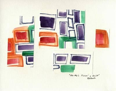 Painting - Ma Mas Piecn A Quilt by B L Qualls