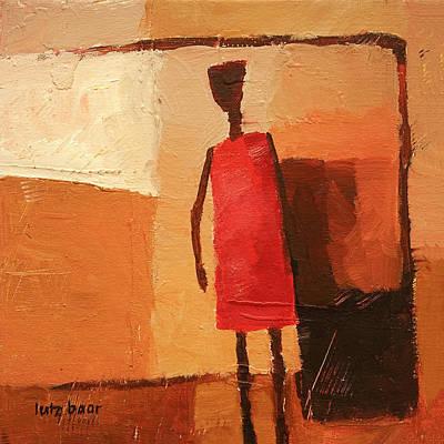 Baar Painting - Maasai by Lutz Baar