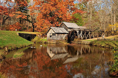 Grind House Photograph - Mabry Mill Virginia by Edwin Verin