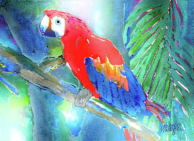 Macaw Mixed Media - Macaw II by Arline Wagner
