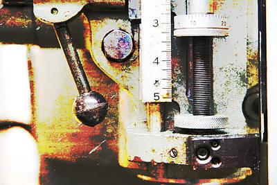 Machine Shop Grunge 10 Print by J Darrell Hutto