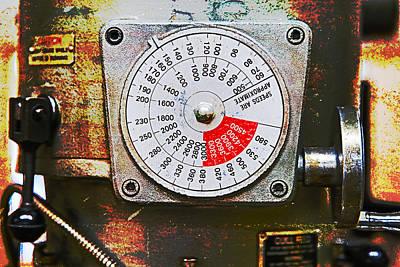 Machine Shop Grunge 12 Print by J Darrell Hutto