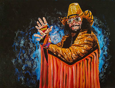 Randy Macho Man Savage Painting - Macho Man Randy Savage by Joel Tesch