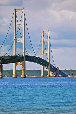 Mgp Photograph - Mackinac Bridge by Michael Peychich