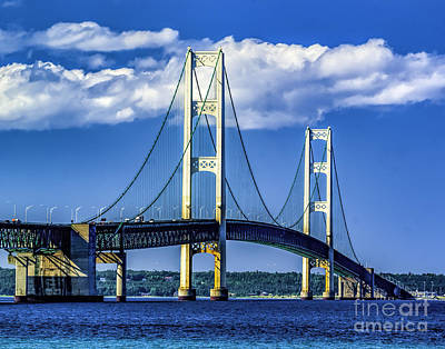 Mackinac Bridge Print by Nick Zelinsky
