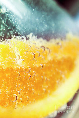 Macro Detail On A Club Orange Cocktail Print by Jorgo Photography - Wall Art Gallery