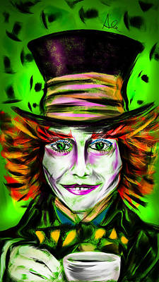 Mad Hatter Print by Alessandro Della Pietra