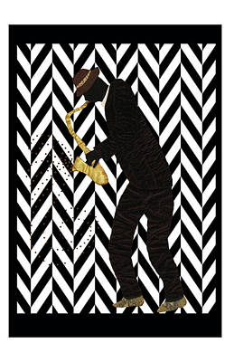 Tapestry - Textile - Mad Sax Poster by Aisha Lumumba