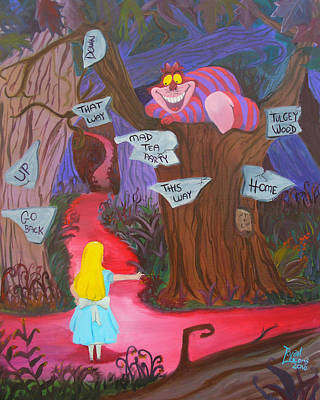 Alice In Wonderland Painting - Mad To The Bone by Ryan Williams