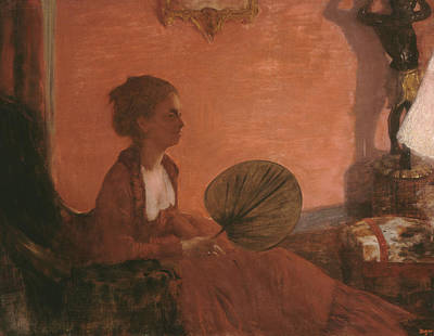 Interior Scene Painting - Madame Camus by Edgar Degas