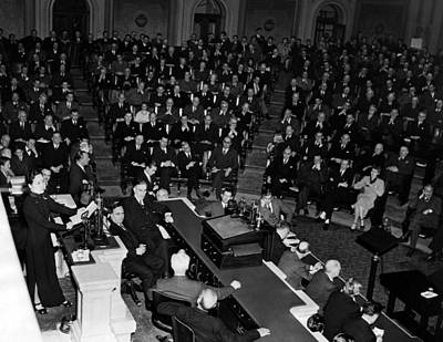 Madame Photograph - Madame Chiang Kai-shek Addresses by Everett