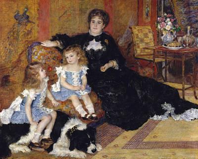Interior Still Life Painting - Madame Georges Charpentier And Her Children by Pierre Auguste Renoir