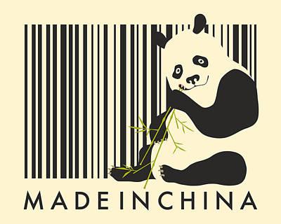 Panda Bear Digital Art - Made In China by Jazzberry Blue