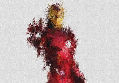 Iron Man Painting - Made Of Iron by Miranda Sether