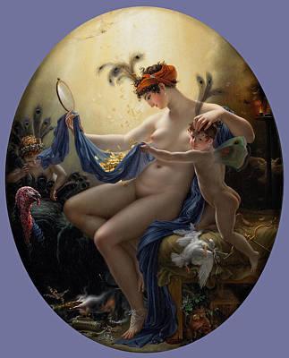 Danae Painting - Mademoiselle Lange As Danae by Anne-Louis Girodet de Roussy-Trioson