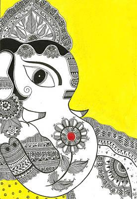 Madhubani Painting - Madhubani Ganesh 1 by Mrunal Limaye
