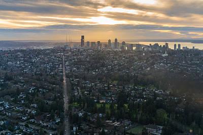 Seattle Skyline Photograph - Madison Park Towards The Seattle Skyline by Mike Reid