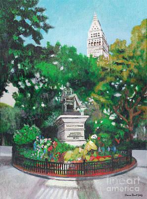 Madison Square Park Print by Deanna Yildiz