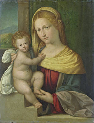 Painting - Madonna And Child by Benvenuto Tisi