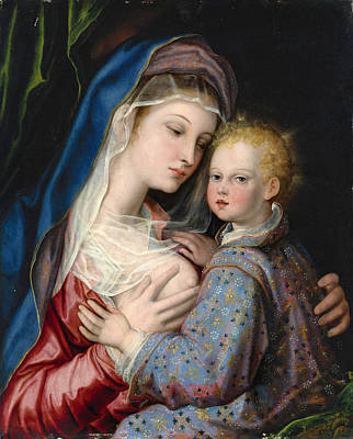 Giovanni Bernardo Lama Painting - Madonna And Child by Giovanni Bernardo Lama