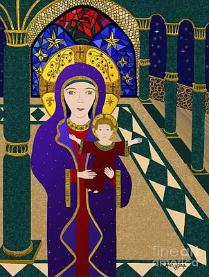 Madonna Digital Art - Madonna And Child by Mallory Blake