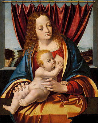 Oggiono Painting - Madonna And Child by Marco d'Oggiono
