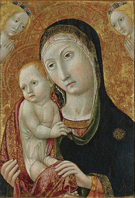 Painting - Madonna And Child With Angels by Sano di Pietro