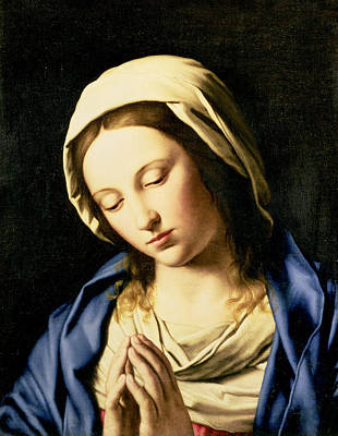 Madonna At Prayer Print by Il Sassoferrato