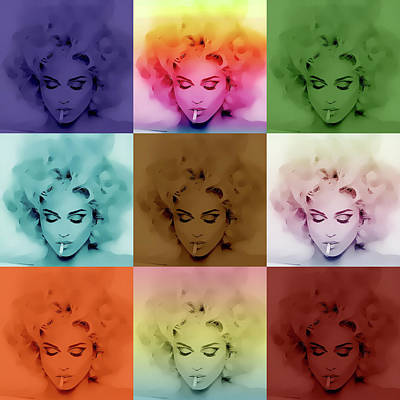 Madonna Mixed Media - Madonna By Gbs by Anibal Diaz