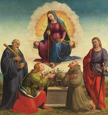 Madonna Delle Cintola Print by Francesco Granacci