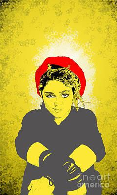 Madonna On Yellow Print by Jason Tricktop Matthews