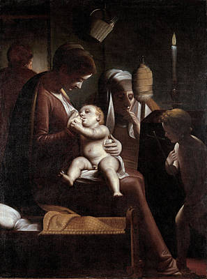 Luca Cambiaso Painting - Madonna Of The Candle by Luca Cambiaso