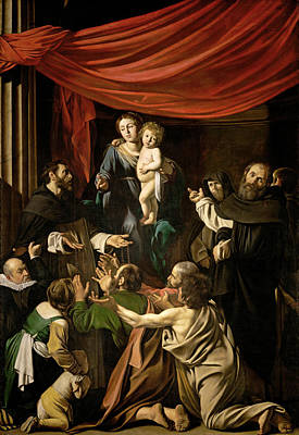 Caravaggio Painting - Madonna Of The Rosary by Caravaggio