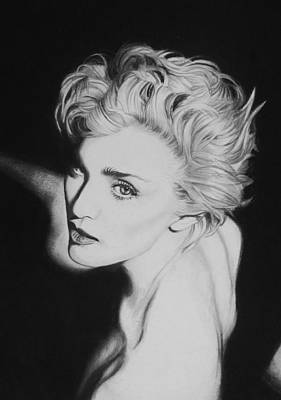 Singer Drawing - Madonna by Steve Hunter