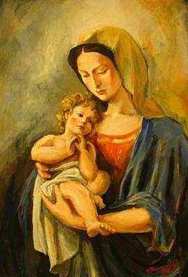 Madonna Painting - Madonna by Tigran Ghulyan