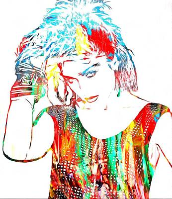 Madonna Mixed Media - Madonna Watercolor by Dan Sproul